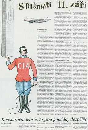 "Mf Dnes hit piece. ""Circus CIA"" screenshot"