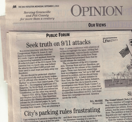 Letter to the Editor - Greenville NC