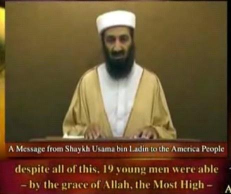 osama bin laden young. Osama Bin Laden speech,