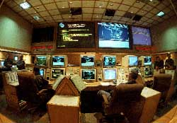NORAD's war room in Cheyenne, Wyoming.