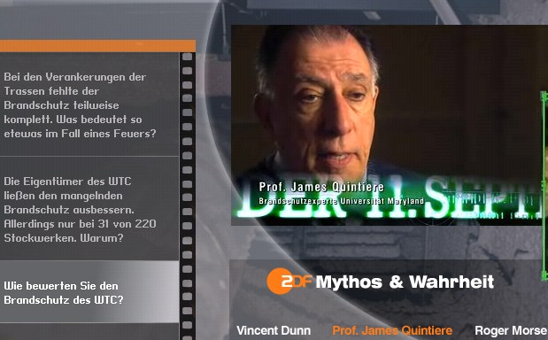 ZDF mythos wahrheit 11. september 2007 michael renz guy smith Roger Morse Vincent Dunn James Quintiere